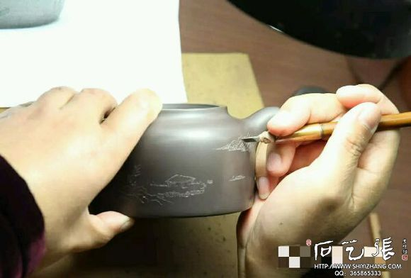 紫砂壶刻字