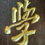 学校门牌石刻字《长兴县雉城中学》