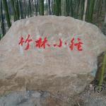 《竹林小径》石头刻字