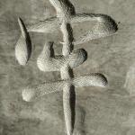 北京石头刻字局部细节-牢