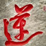 重庆莲界生态园石头刻字作品